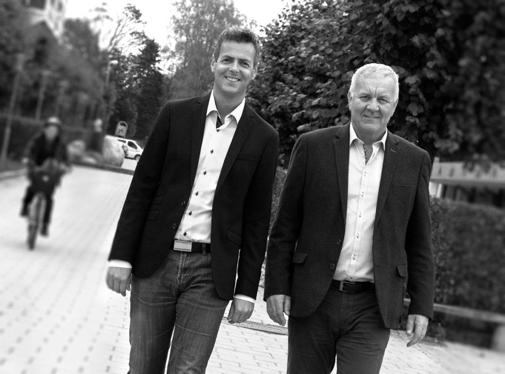 Roy Hugo Øren og Torkil Krange i Metra Næringsmegling